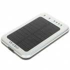 2600mAh Portable Solar Power Battery Pack with 3-LED White Light & Adapters