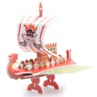 Intellectual Development DIY 3D Paper Puzzle Set - Pirate Ship (Random Color)