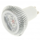 GU10 3W 6500K 240-Lumen 3-LED White Light Bulb (AC 85~265V)