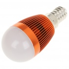 E14 3W 6500K 260-Lumen LED White Light Bulb (AC 85 ~ 245V)