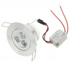 3W 260-Lumen 6500K 3-LED White Light Ceiling Lamp with LED Driver (AC 85~245V)