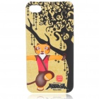 Protective Kung Fu Panda Tiger Pattern Case + Screen Guard Film + 2 x Anti-Dust Plugs for iPhone 4