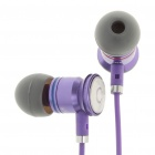 Designer's In-Ear Stereo Earphone with Control Talk for iPhone - Purple (100CM-Cable)