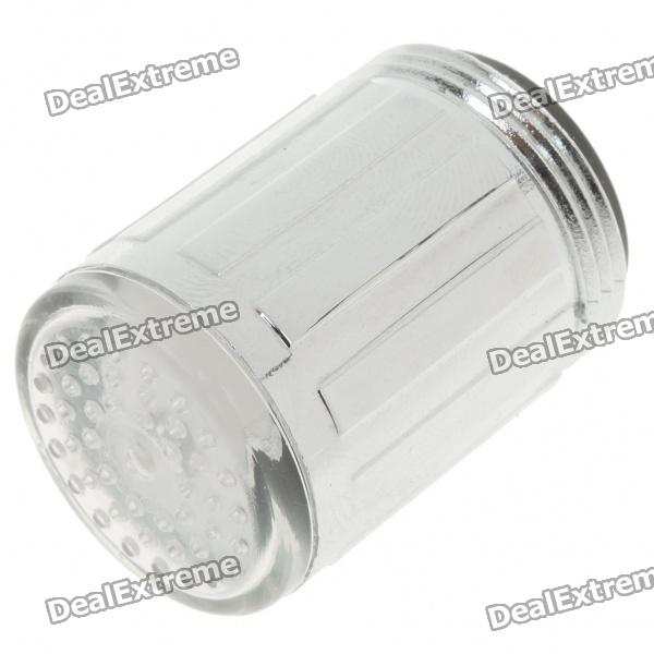 1-LED de colores grifo Flashing Light Filter Taps Light (sin batería)
