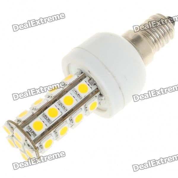 E14 5.5W 30xSMD 5050 Warm White LED Light Bulb (85~265V) lexing e14 7w 540lm 14 smd 5730 led warm white light bulb ac 85 265v