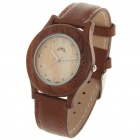 Handmade Wooden Quartz Water Resistant Wrist Watch - Brown (1 x SR626SW)