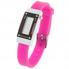 Fashion Sports Anion Silikon wasserdicht Digitale Armbanduhr - Deep Pink (1 x AG1)