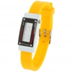 Fashion Sports Anion Silicone Water Resistant Digital Wrist Watch - Yellow (1 x AG1)