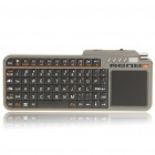 Handheld Rechargeable Bluetooth V2.0 2,4 GHz Wireless-Tastatur mit Trackpad / Red Laser