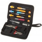 9-in-1 Screwdrivers + Tweezers + Pliers Tool Kit w/ Carrying Pouch