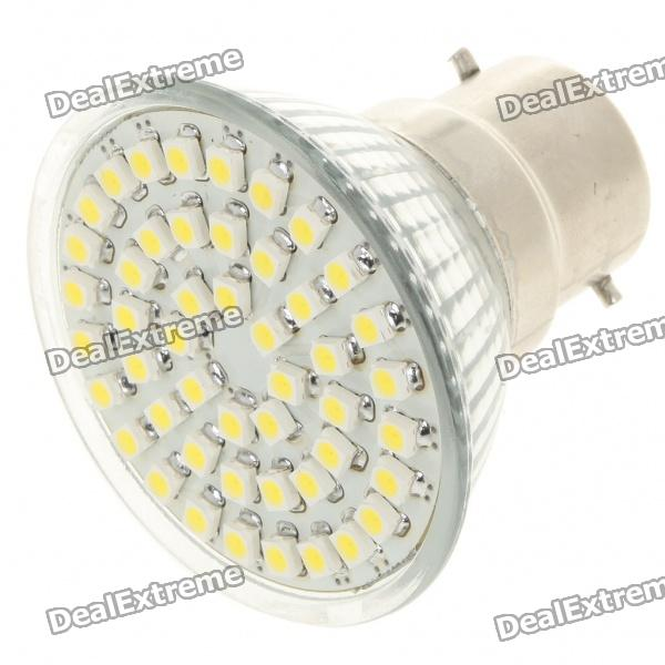 B22 3W 6500K 195-Lumen 48-SMD White Light Bulb (85~265V)