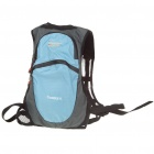 In-way Outdoor Travel Backpack Double-Shoulder Bag w/ Water Bag Pocket - Black + Blue