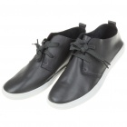 Visvin Stylish Retro Soft Leather Leisure Shoes for Men - Grey (EU Size-40)