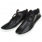 Visvin Stylish Retro Soft Leather Leisure Shoes for Men - Black (EU Size-44)