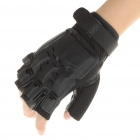 Tactical Half Finger Gloves with Protective Rubber Pad - Pair (Size-L)