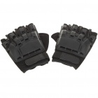 Tactical Half Finger Gloves with Protective Rubber Pad - Pair (Size-XL)