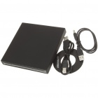 Slim USB externo BD / DVD / CD Burner Writer - Preto
