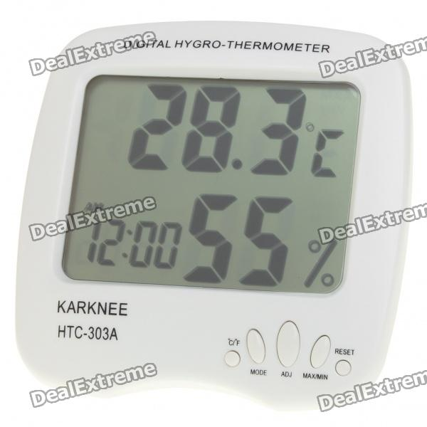 3.7 LCD Digital Thermometer/Humidity Meter - White (1 x AAA) thermostat car thermometer digital thermometer humidity u0026 temperature meter gm1361 can be accessed by k type thermocouple