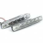 6W 6000K 600-Lumen 6-LED White Light Daytime Running Lamps for Car (Pair/DC 12V)