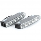 2W 6000K 150-Lumen 10x5050 SMD LED White Light Daytime Running Lamps for Car (Pair/DC 12V)