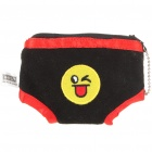 Cute Mini Briefs Shaped Cloth Coin Purse - Black + Red