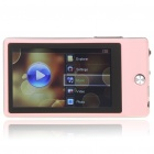 "Benss X630 3"" TFT LCD AVI/RMVB Portable Media Player w/ FM/TF Slot - Pink + Silver (4GB)"