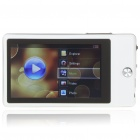 "Benss X630 3"" TFT LCD AVI/RMVB Portable Media Player w/ FM/TF Slot - White + Silver (4GB)"