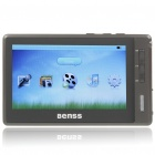 "Benss BX-57 4.3"" TFT LCD AVI/RMVB Portable Media Player w/ TV-Out/TF Slot - White + Silver (8GB)"