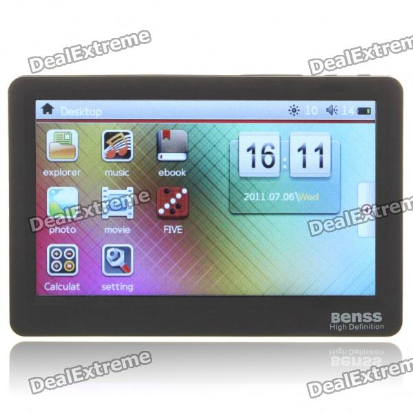 "Benss BX-88 4.3"" Touch Screen AVI/RMVB Portable Media Player w/ TV-Out/TF Slot - Black (4GB)"