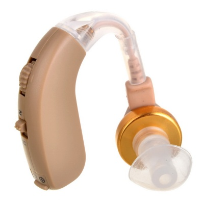 F-136 Behind Ear Volume Adjustable Sound Voice Amplifier Hearing Aid