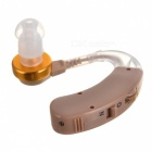 Volume Adjustable Sound Voice Amplifier Hearing Aid - Brown (1*AG13)