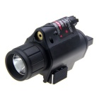 5mW 650nm Red Laser Sight with Cree LED Flash Light Gun Mount Set (2 x 123A)