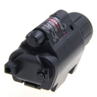 5mW 650nm Red Laser Sight w/ LED Flash Light Gun Mount Set- Black