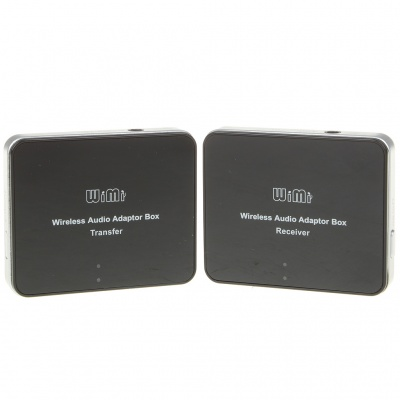 Wireless Audio Adapter Box Transmitter & Receiver - Black