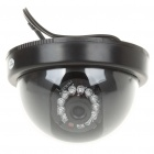 Wired 300KP Surveillance Security Camera with IR 12-LED Night Vision Light - Black