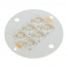 6W 80-Lumen 6-LED Emitters Blue Light Round Metal Plate (9~11V)