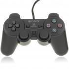 Genuine Wired Dual-Shock Game Controller for PS2 - Black (2.3M-Cable)
