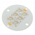 6W 300-Lumen 6-LED Emitters Green Light Round Metal Plate (9~11V)