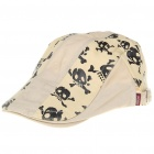 JAMONT Cool Skull Pattern Cotton Fabric Beret Cap/Hat (Random Color)