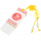Classic Chinese Porcelain Style USB 2.0 Flash Drive - White + Red (4GB)