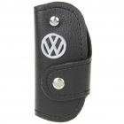 Protective Vehicle Logo PU Leather Pouch for Car Smart Key - Volkswagen
