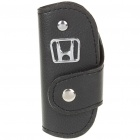 Protective Vehicle Logo PU Leather Pouch for Car Smart Key - Honda