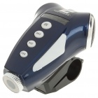 Portable Rechargeable MP3 Player Speaker + White Light Torch w/ FM/TF - Blue
