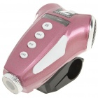 Portable Rechargeable MP3 Player Speaker + White Light Torch w/ FM / TF - Pink