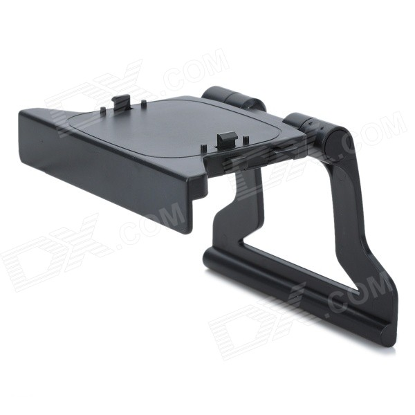Plastic Kinect Sensor TV Mounting Clip for XBOX 360 portable wall mount stand holder for xbox one kinect 2 0 sensor black