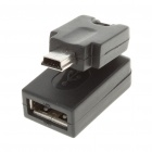 USB AF to Mini 5-Pin Swivel Adapter/Converter (Black)