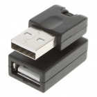 USB AM AF Swivel Adapter / Converter (Black)