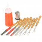 10-in-1 Portable Outdoor BBQ Barbecue Tool Kit