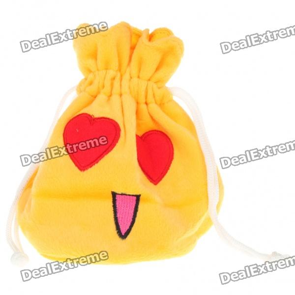 Cute Change Purse Coin Pouch Bag - Yellow + Red + Pink