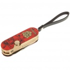 Multi-Function Methane Flame Lighter with Knife + Scissors Toolkit (Red)